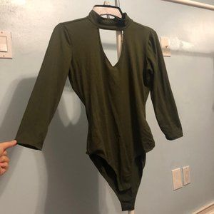 3/4 sleeve  body suit - olive